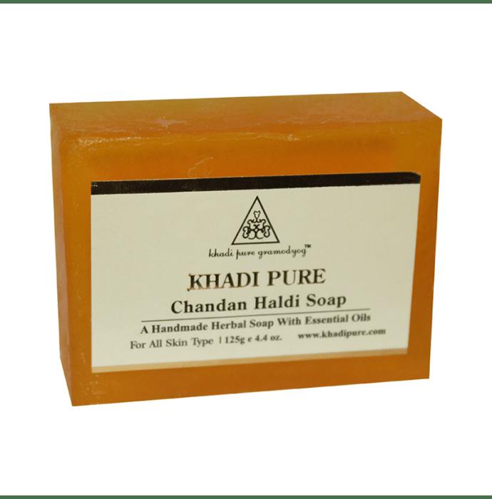 Khadi Pure Herbal Chandan Haldi Soap Pack of 2