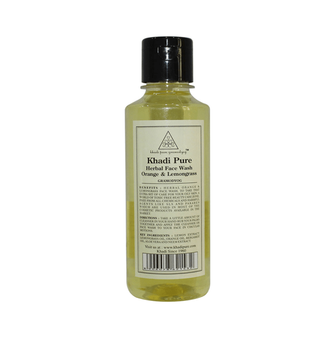 Khadi Pure Herbal Orange & Lemongrass Face Wash