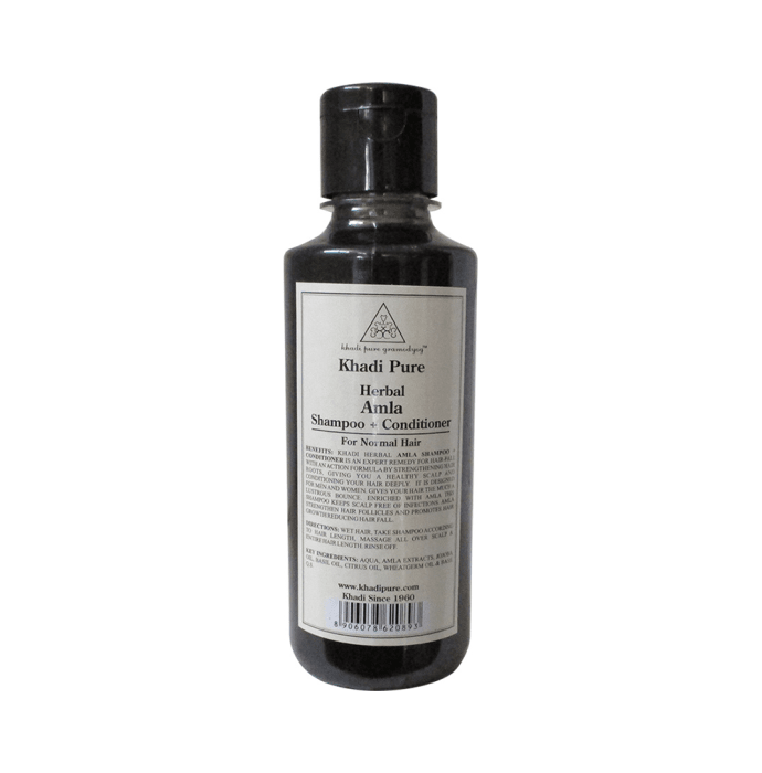 Khadi Pure Herbal Amla Shampoo + Conditioner