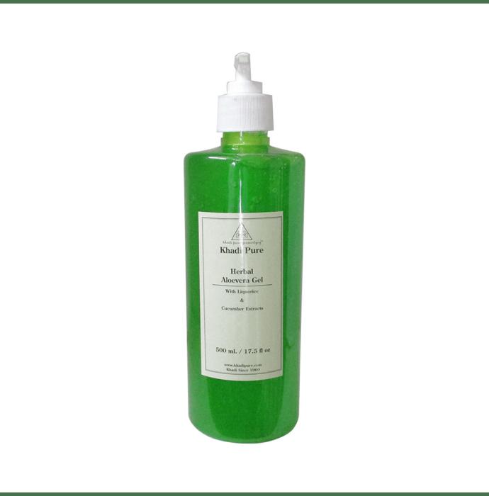 Khadi Pure Herbal Aloevera Gel with Liquorice & Cucumber Extracts