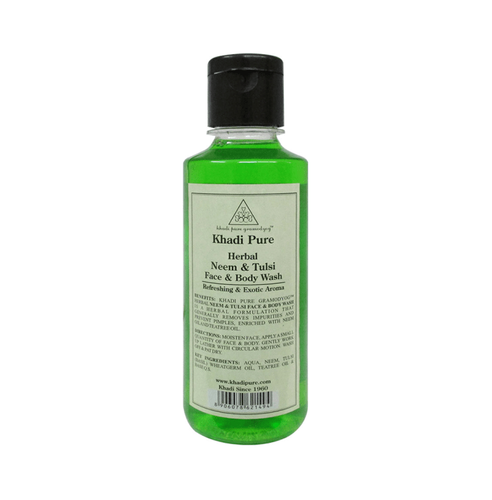 Khadi Pure Herbal Neem & Tulsi Face and Body Wash