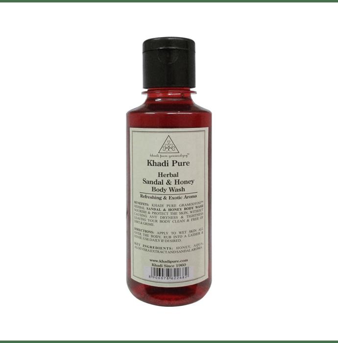 Khadi Pure Herbal Sandal & Honey Body Wash