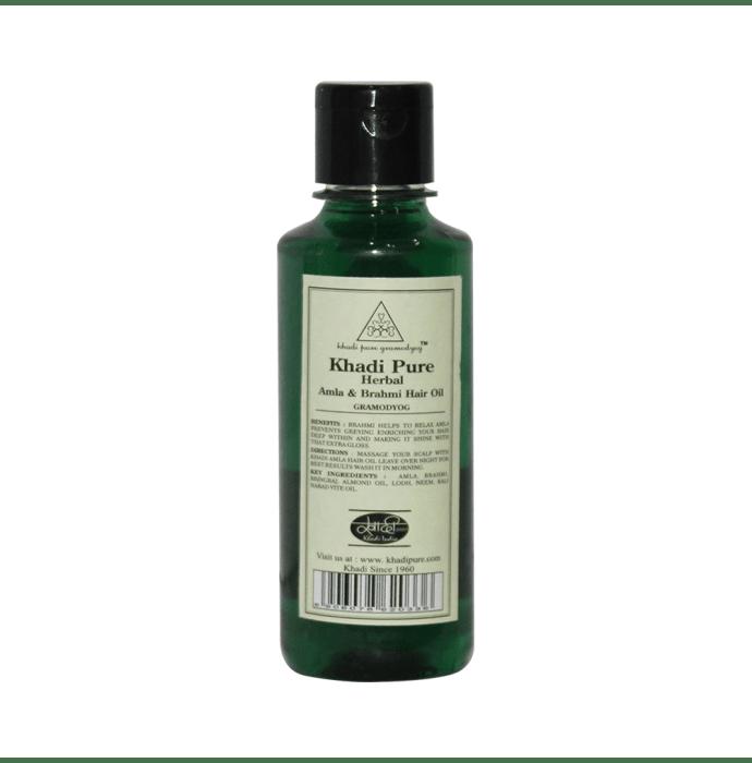 Khadi Pure Herbal Amla & Brahmi Hair Oil Plain