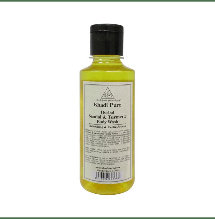 Khadi Pure Herbal Sandal & Turmeric Body Wash