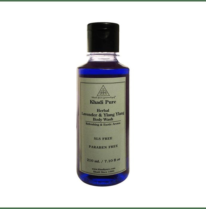 Khadi Pure Herbal Lavender & Ylang Ylang Body Wash SLS-Paraben Free
