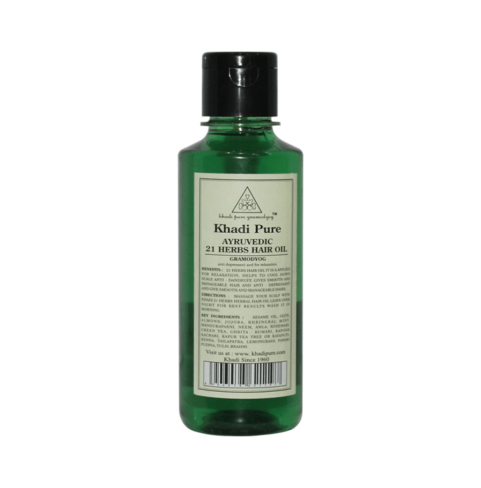 Khadi Pure Herbal Ayurvedic 21 Herbs Hair Oil