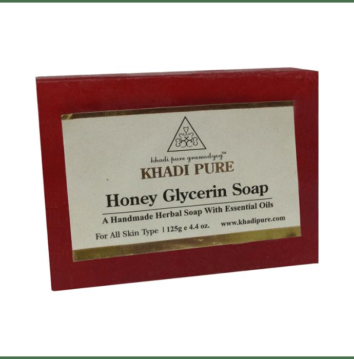 Khadi Pure Herbal Honey Glycerin Soap Pack of 2