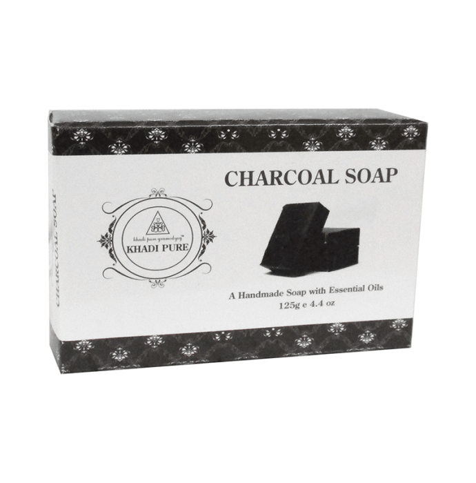 Khadi Pure Herbal Charcoal Soap