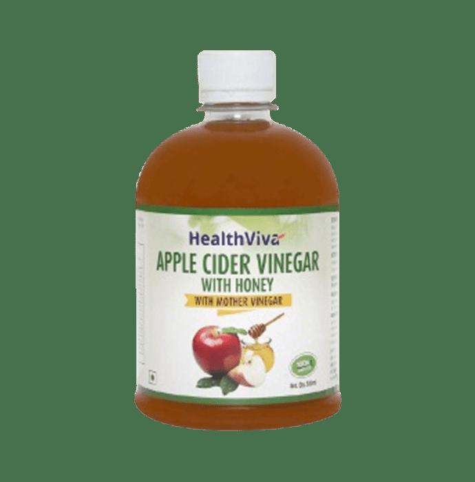 HealthViva Apple Cider Vinegar with Honey and Mother Vinegar