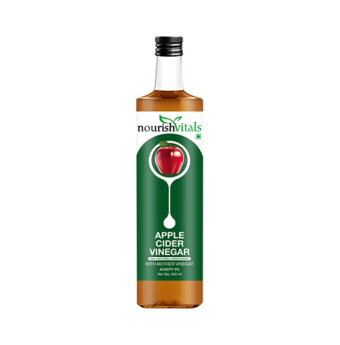 NourishVitals Apple Cider Vinegar with Mother Vinegar Acidity 5%