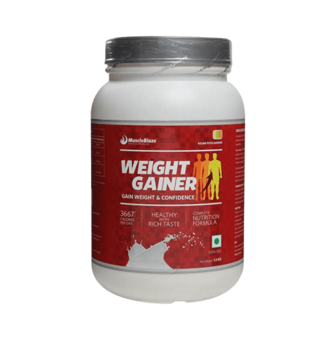 MuscleBlaze Weight Gainer Kesar Pista Badam