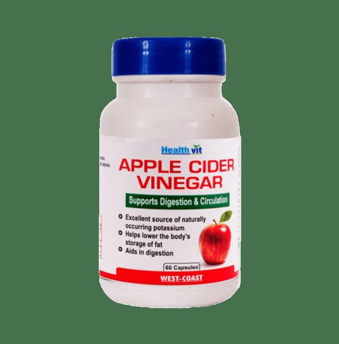 HealthVit Apple Cider Vinegar 500mg Capsules for Weight Loss & Detox