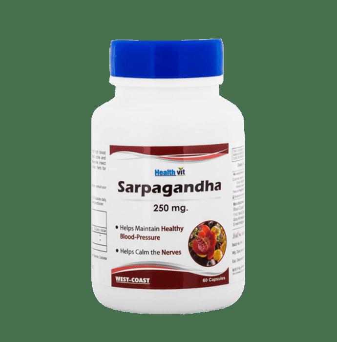 HealthVit Sarpagandha 250mg Capsule