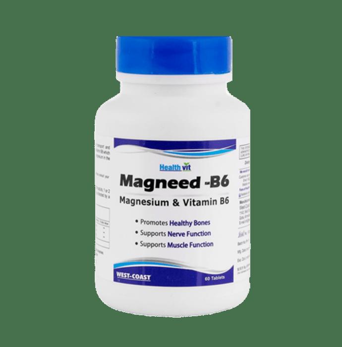 HealthVit High Absorption Magneed-B6 Magnesium & Vitamin B6 Tablet