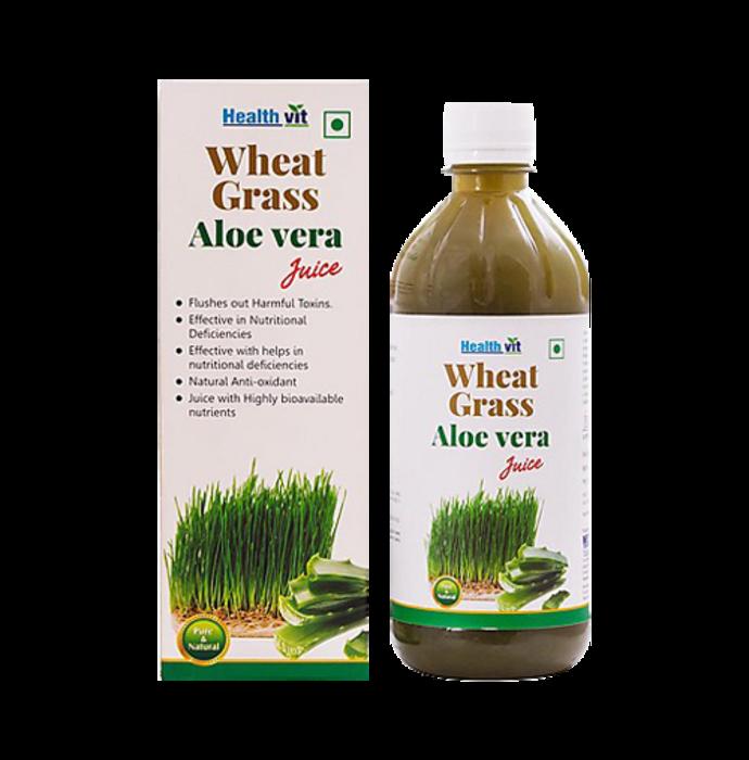 HealthVit Wheat Grass Aloevera Juice