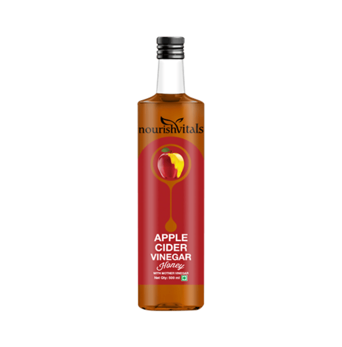 NourishVitals Apple Cider Vinegar Honey with Mother Vinegar