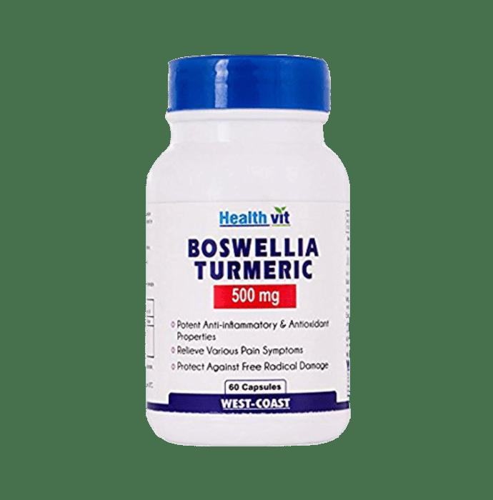 HealthVit Boswellia Turmeric 500mg Capsule