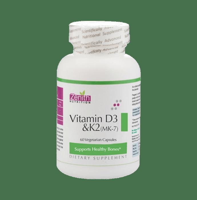 Zenith Nutrition Vitamin D3 & K2 (MK-7) Capsule