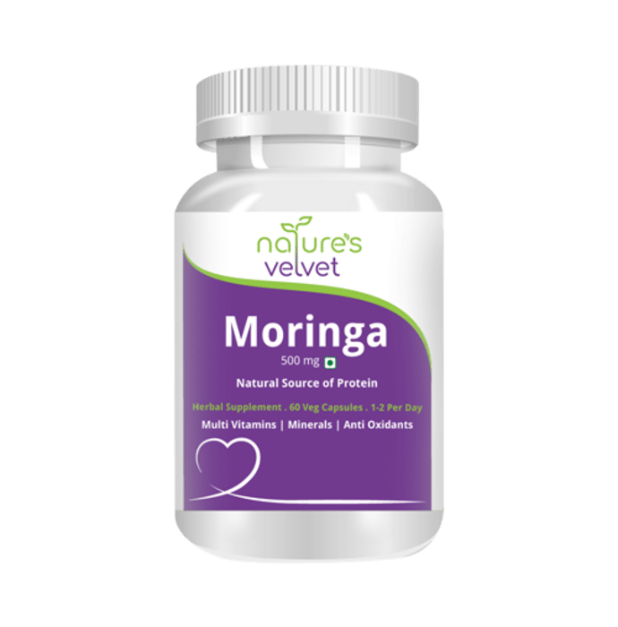 Natures Velvet Lifecare Moringa Leaf Extract 500mg Capsule