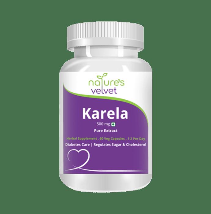 Nature's Velvet Karela Pure Extract 500mg Capsule