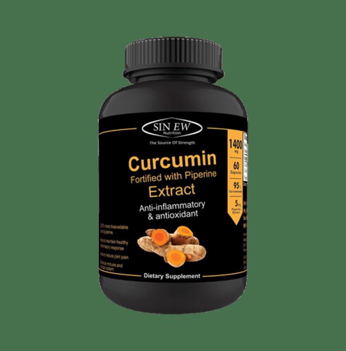 Sinew Nutrition Organic Turmeric Curcumin with Piperine Extract Capsule