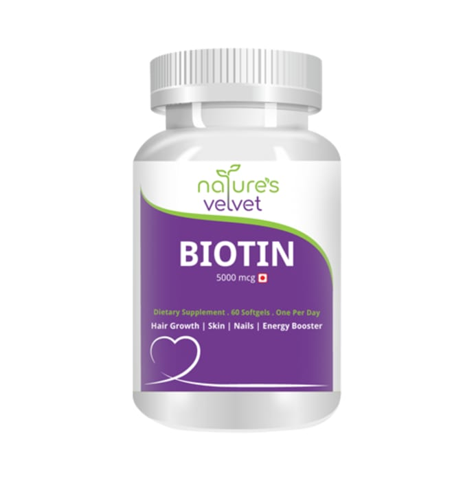 Nature's Velvet Biotin 5000mcg Capsule