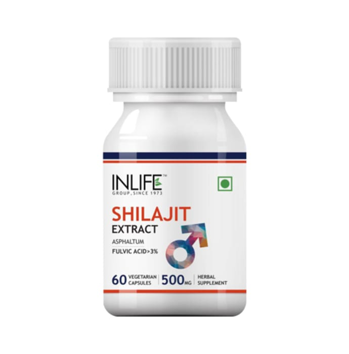 Inlife Shilajit Extract 500mg Capsule