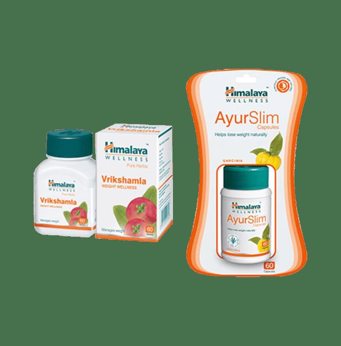 Himalaya Weight Management Combo Pack (Ayurslim 60 Capsules & Vrikshamla 60 Tablets)