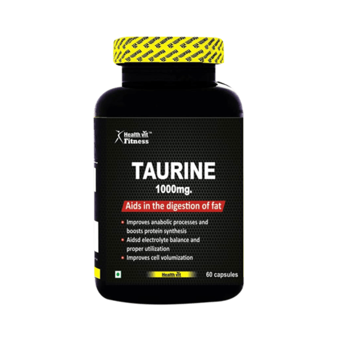 HealthVit Fitness Taurine 1000mg Capsule