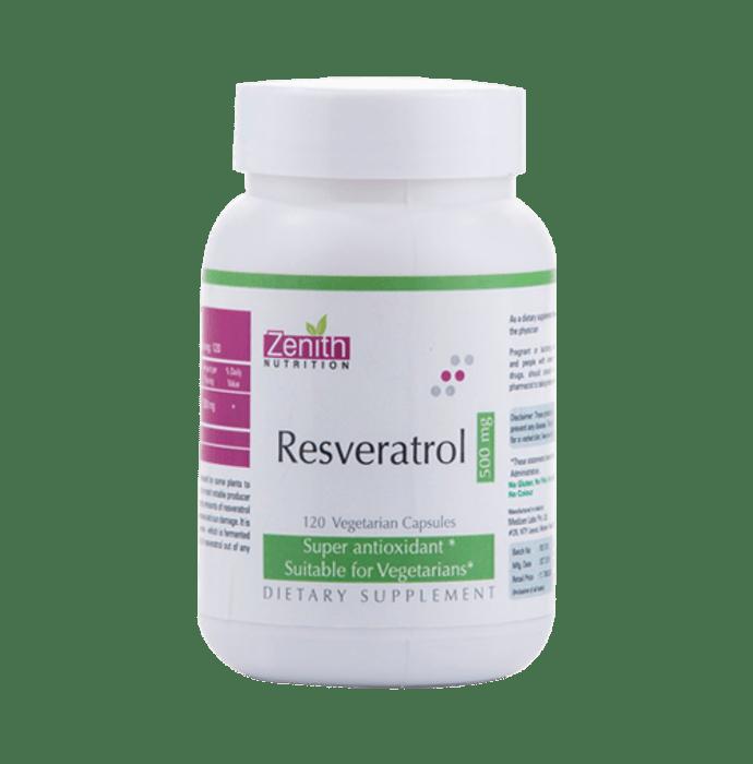 Zenith Nutrition Resveratrol   500mg Capsule