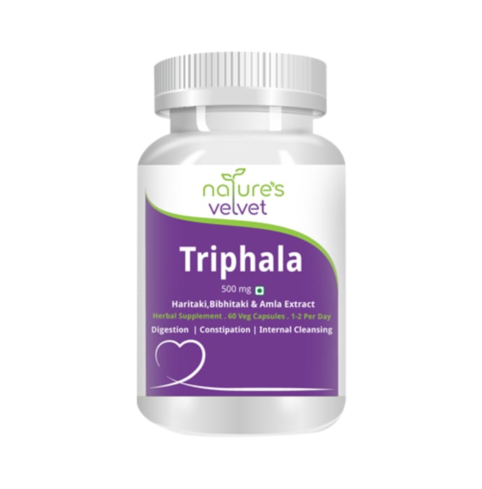 Natures Velvet Lifecare Triphala Pure Extract 500mg Capsule