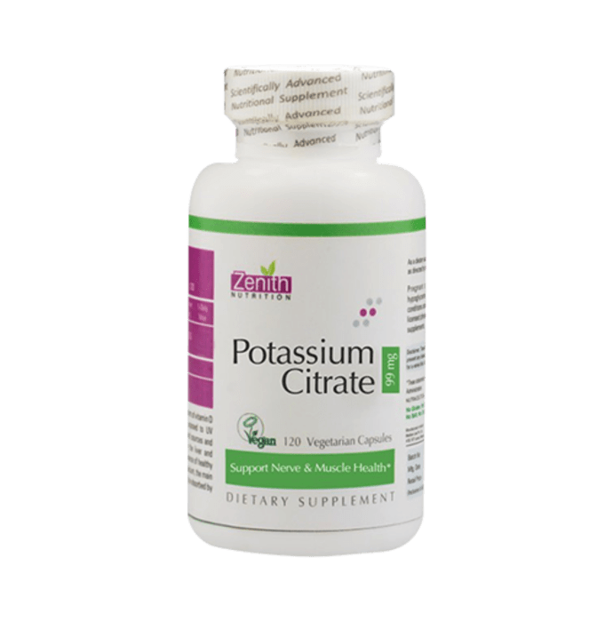 Zenith Nutrition Potassium Citrate 99mg Capsule