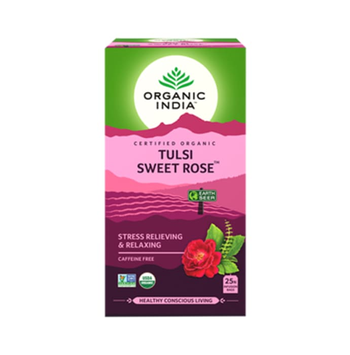 Organic India Tulsi Sweet Rose Tea