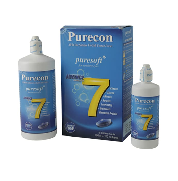Purecon Combo Pack of Puresoft Multi-Purpose Soft Contact Lens Solution