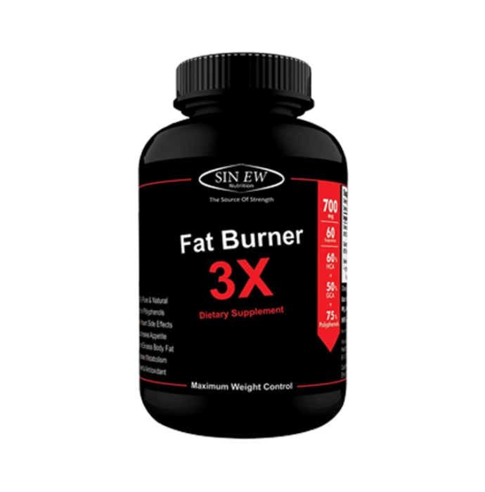 Sinew Nutrition Natural Fat Burner 3X (Green Tea, Green Coffee & Garcinia Cambogia Extract) - 700mg