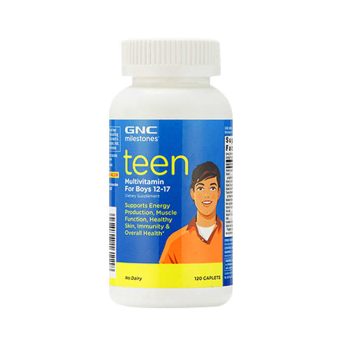 GNC Milestones Teen - Multivitamin For Boys 12-17 Caplet
