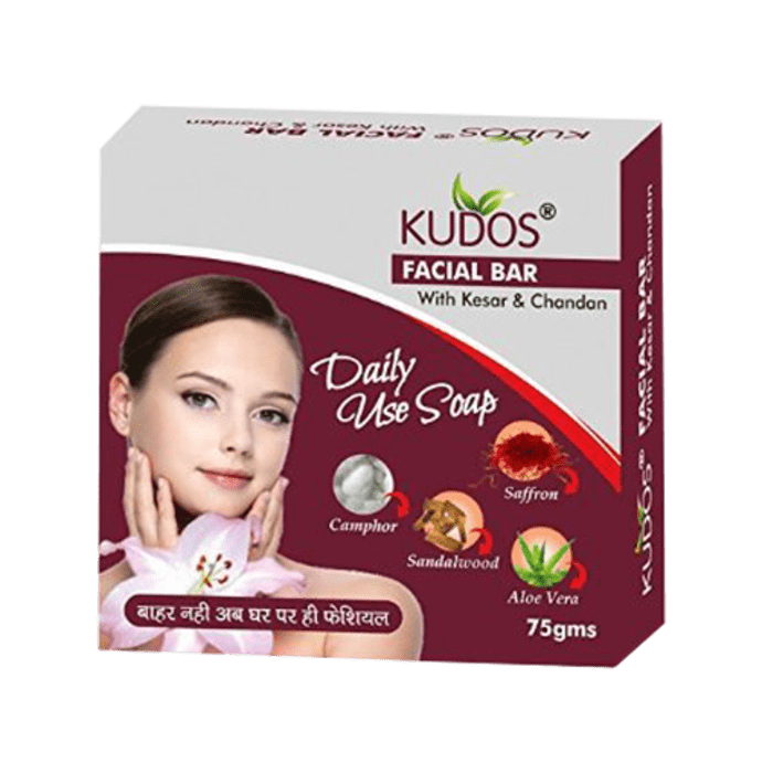 Kudos Facial Bar with Kesar & Chandan