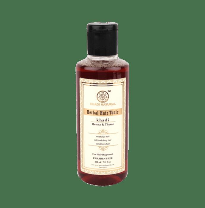 Khadi Naturals Herbal Henna & Thyme Hair Tonic Paraben Free