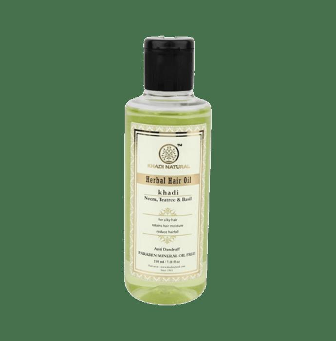 Khadi Naturals Neem, Teatree & Basil Hair Oil Paraben & Mineral Oil Free