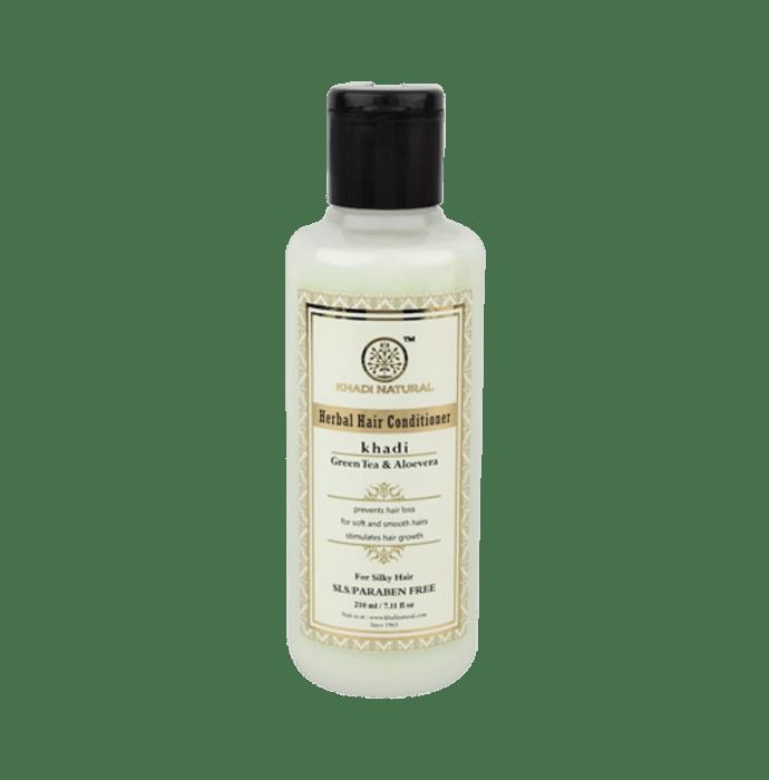 Khadi Naturals Ayurvedic Green Tea & Aloevera Hair Conditioner SLS & Paraben Free