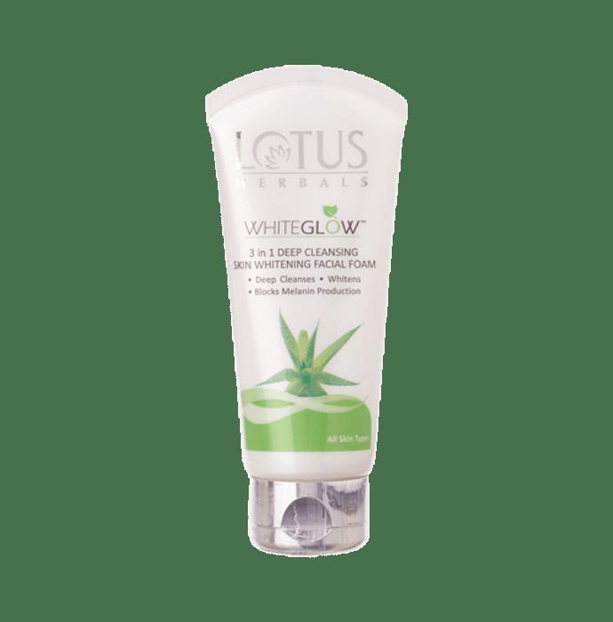 Lotus Herbals WhiteGlow 3 in 1 Deep Cleansing Skin Whitening Facial Foam