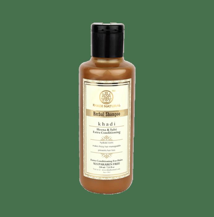 Khadi Naturals Ayurvedic Heena & Tulsi  Extra Conditioning Hair Cleanser - SLS Free