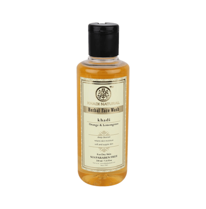 Khadi Naturals Ayurvedic Face Wash  Orange & Lemongrass SLS & Paraben Free