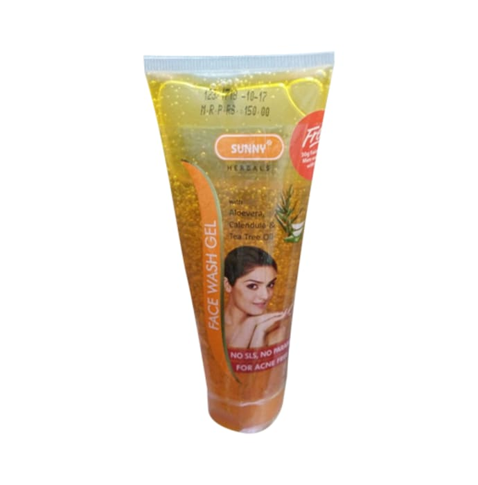 Bakson's Sunny Herbal Face Wash Gel with Aloevera, Calendula and Tea Tree Oil