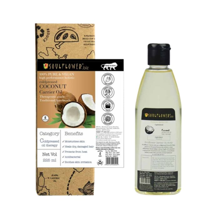 Soulflower Coldpressed Coconut Carrier Oil