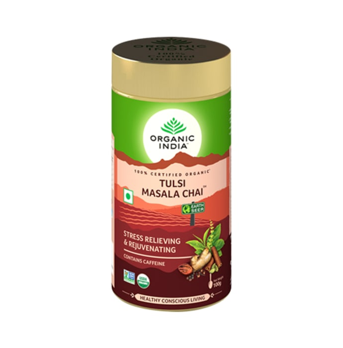 Organic India Tulsi Masala Tea Turmeric Orange and Cinnamon