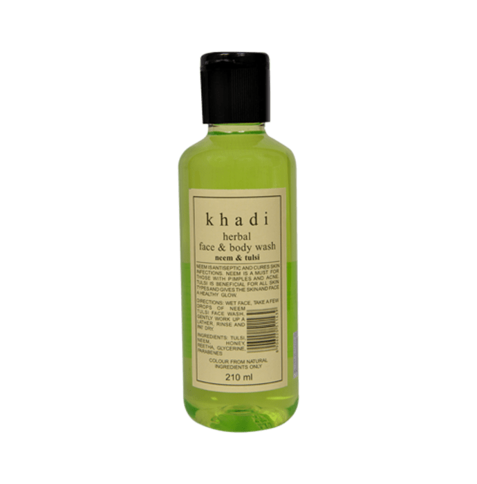 Khadi Herbal Neem & Tulsi Face & Body Wash