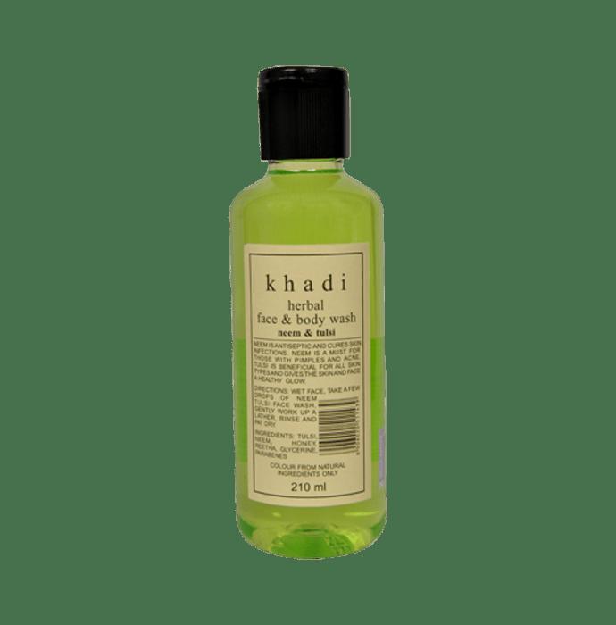 Khadi Naturals Herbal Neem & Tulsi Face & Body Wash