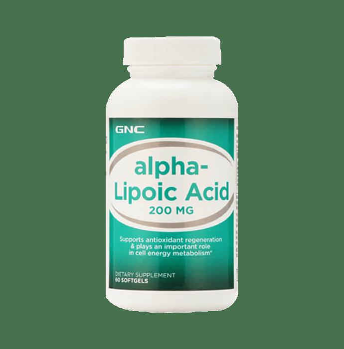 GNC Alpha Lipoic Acid 200mg Soft Gelatin Capsule