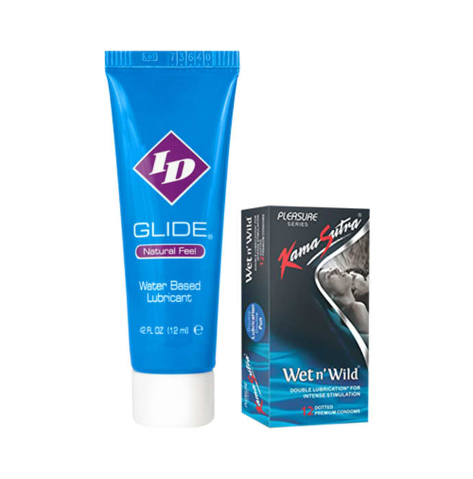 Thats Personal Combo Pack of ID Glide Water Based Lubricant 12 ml & KamaSutra Wet n' Wild Condom